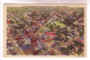 Air View, Central Section, St Joseph, Missouri,