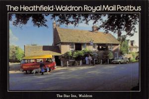 Royal Mail 1980 Sussex Postcard Heathfield - Waldron, The Star Inn Postbus V78