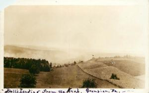 c1920 Real Photo PC; Bell's Landing from the Knob, Grampian PA Clearfield County
