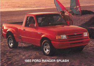 Advertising 1993 Ford Ranger Splash Pickup Truck