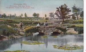 Wisconsin Milwaukee Washington Park Stone Bridge