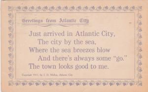 ATLANTIC CITY , New Jersey , 1911 ; Just Arrived Poem