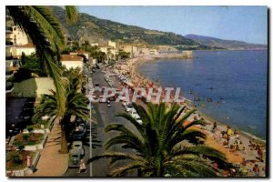 Old Postcard The Wonderful sites of the French Riviera Menton M Promenade and...