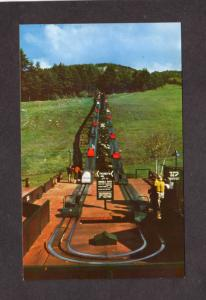 NH Mt Cranmore Ski Skiing Area North Conway New Hampshire Postcard Skimobile