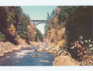 Unused Pre-1980 BRIDGE SCENE Quechee - Hartford Vermont VT d3708