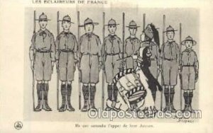Les Eclaireurs De France, Boy Scouts, Scouting, Artist Roger Broders Unused