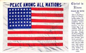 River Easter Service Promotes United States Peace Flag~League of Nations Era '20