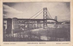 Ambassador Bridge, World's Longest International Suspension Bridge, Windsor, ...