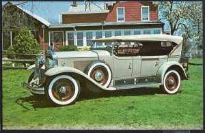 Classic Car Postcard 1928 CADILLAC V8 Seven Passenger Phaeton