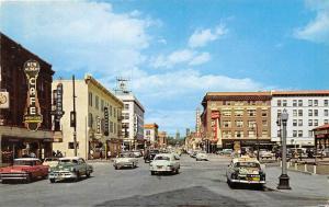 Capitol Avenue Cars Street Scene Cheyenne Wyoming 1960 postcard