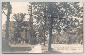 Blue Island IL~Greenwood Ave~First Universalist Church~Homes~1911 CR Childs RPPC