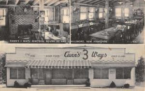 Hillsboro New Hampshire Canns 3 Ways Multiview Antique Postcard K43137