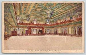 Chicago Illinois~Morrison Hotel~Cameo Ballroom~Chairs Along Side~c1910 Postcard