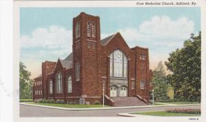 ASHLAND, Kentucky, 1930-1940's; First Methodist Church