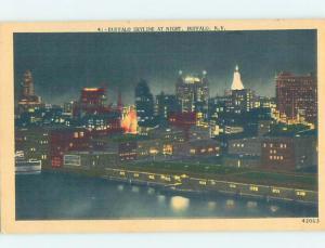 Linen PANORAMIC VIEW Buffalo New York NY i1356