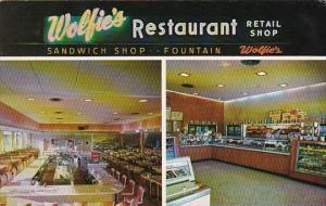 Florida St Petersburg Wolfie's Restaurant and Sandwich Shop Central Avenue 1960