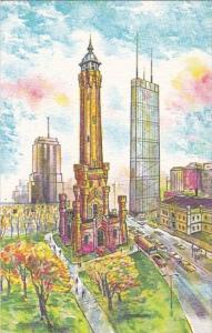 Chicago Art Card North Michigan Avenue Chicago Illinois