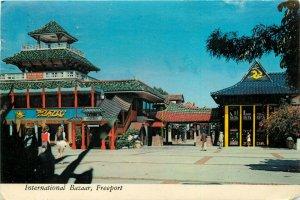 International Bazaar Freeport Grand Bahamas pm 1979 Postcard
