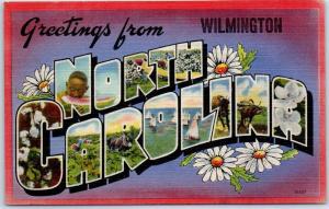 Wilmington, NORTH CAROLINA Large Letter Postcard Colourpicture Linen c1940s