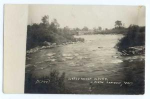RPPC of Little Wolf River, New London, Wisconsin, WI