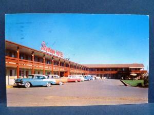 Postcard CO Denver Skyways Motor Hotel Motel 1950's Cars