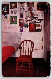 Stillwater~Minnesota State Prison~Inmate Cell Decorated w/ Lovely Ladies~1909