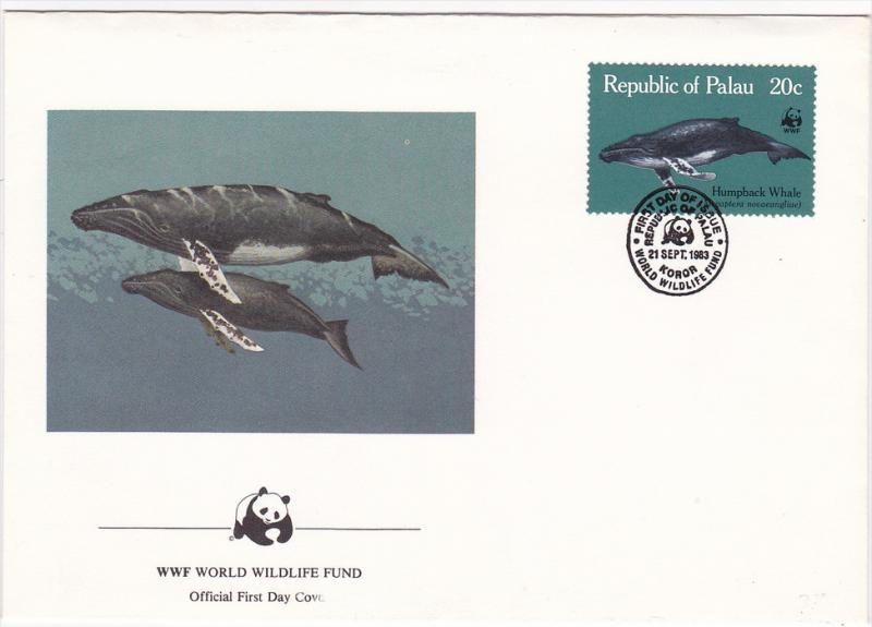 Republic of Palau , 1983 , Humpback Whale ; Official First Day Cover