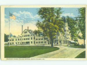W-Border MANSION HOUSE HOTEL South Poland Maine ME HQ4373