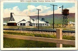 Salinas, California Postcard Juayule Rubber Factory Kashower c1920s Unused