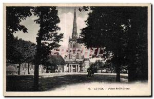 Old Postcard Lucon up beautiful cross