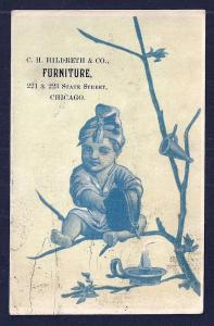 VICTORIAN TRADE CARD CH Hildreth & Co Furniture