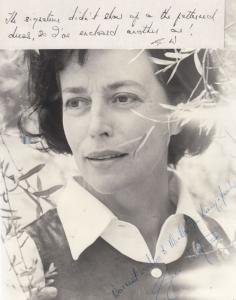 Gwen Watford Edgar Allen Poe Horror Film Actress Hand Signed Photo & Message