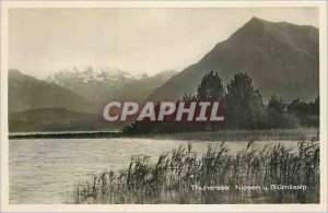 Old Postcard Thunersee Niesen u Blumlisalp