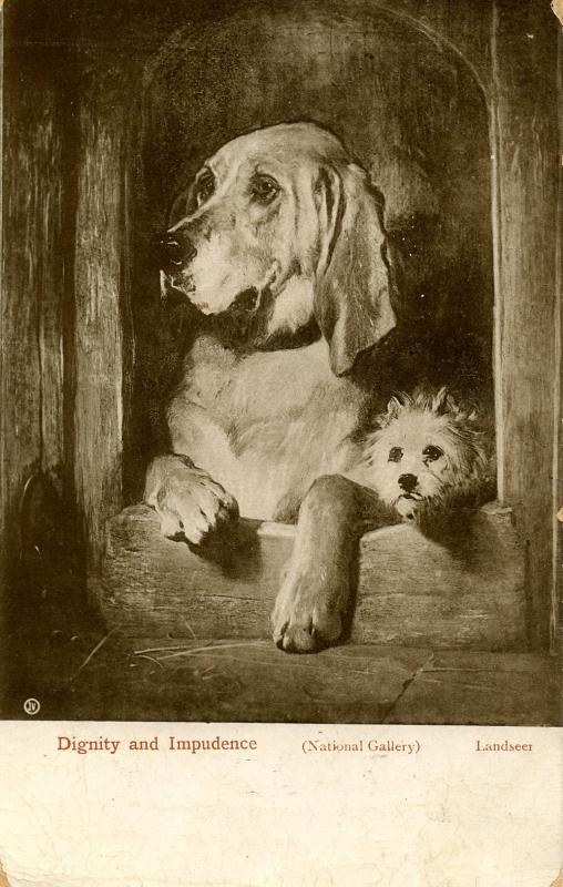 Dignity and Impudence Dogs by Artist Sir Edwin Landseer