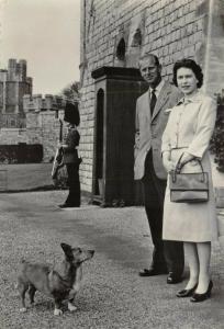 Vintage RP Postcard HM The Queen and the Duke of Edinburgh at Windsor Castle 31V