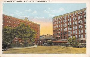 Schenectady New York~General Electric Company Entrance Gate~Guard Shack~1918 PC