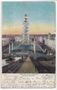 USA; Shoot The Chutes, Dreamland, Coney Island PPC, 1906 Liable To Letter Rate