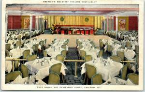 1940s Chicago Postcard CHEZ PAREE America's Smartest Theatre Restaurant Linen