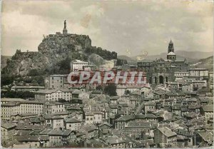 Modern Postcard Le Puy Haute Loire General view with the Cathedral and the st...