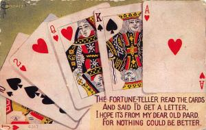 Poker Playing Cards~Straight Ace High~Fortune Teller Read Them~Will get Letter