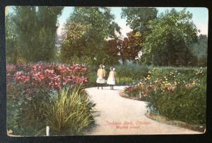 Jackson Park, Chicago, Wooded Island, Franklin Post Card Co. 257