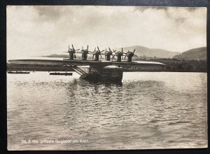 Mint Dornier DOX Giant Seaplane Of The World Real Picture Postcard