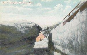 Icebergs at GRAND HAVEN , Michigan, 1900-10s