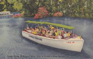 Jungle Cruise on Tropical Silver River, at Florida's Silver Springs, Florida,...