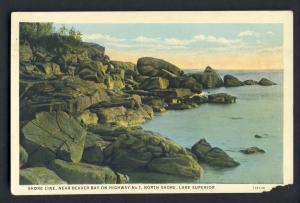 Beaver Bay, Minnesota/MN Postcard, Shore Line/Lake Superior