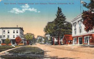 Colebrook New Hampshire Main Street Scene Antique Postcard K96584