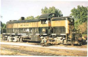 Monon RR #57, Alco RS2, Chrome by Railcards