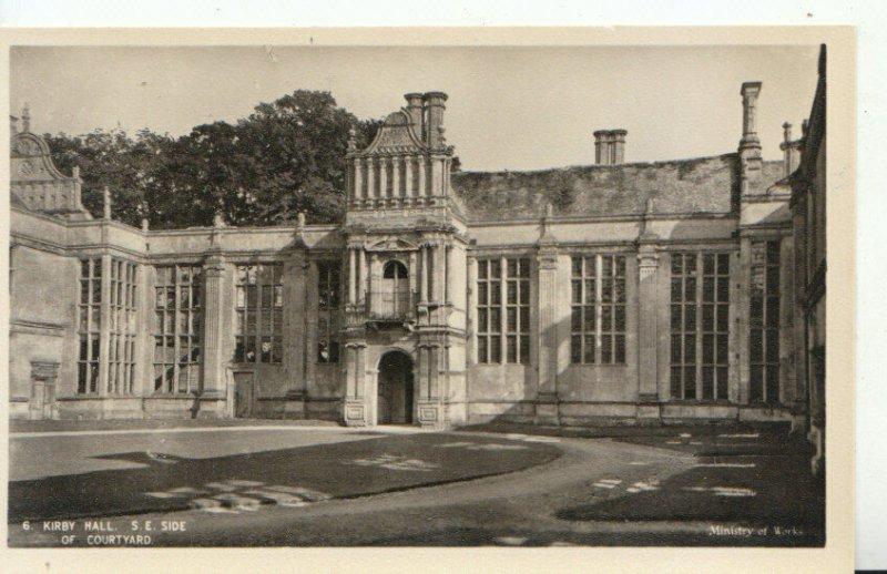Northamptonshire Postcard - Kirby Hall - S.E. Side of Courtyard - Ref 11475A