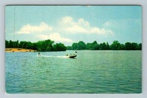 Dover DE- Delaware, Silver Lake, Scenic View, Chrome Postcard
