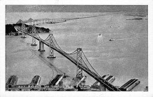 BAY BRIDGE San Francisco-Oakland, CA c1930s Vintage Postcard